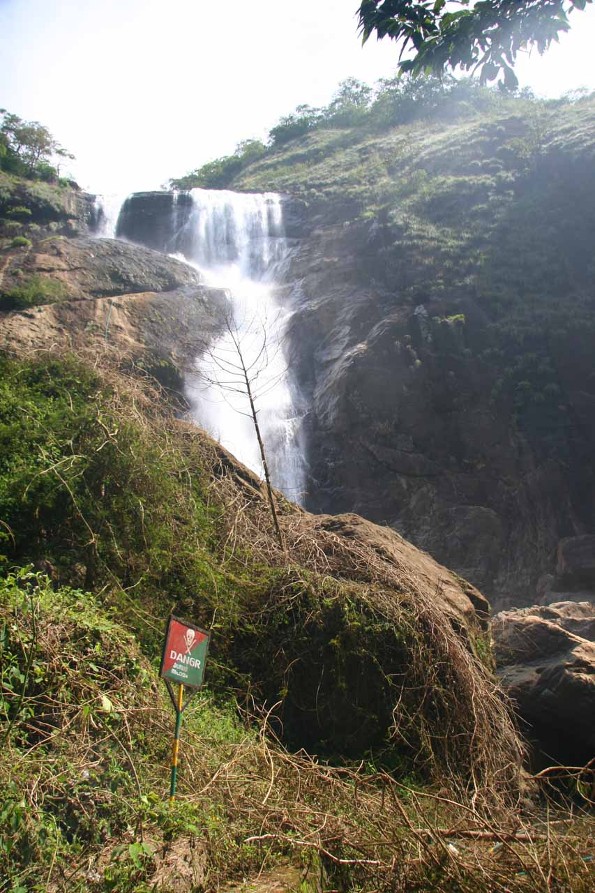 View of Palaruvi Falls from near the closure spot