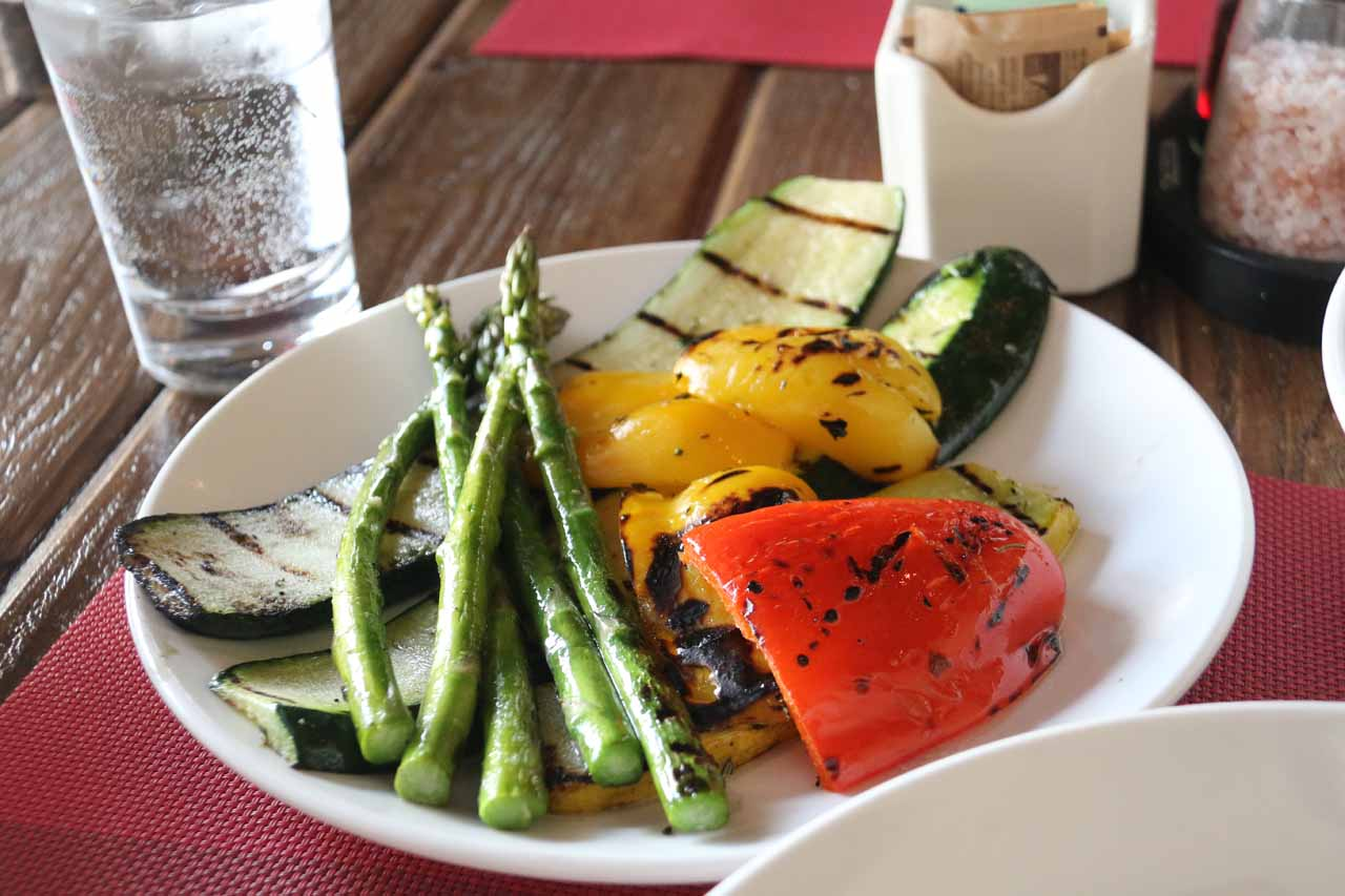 The grilled veggies at the Chicken Ranch in Palm Springs