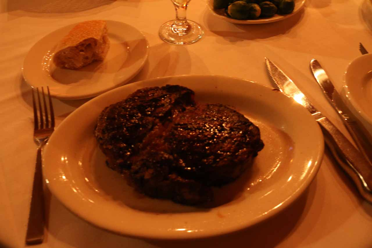 My rib-eye steak from LG's