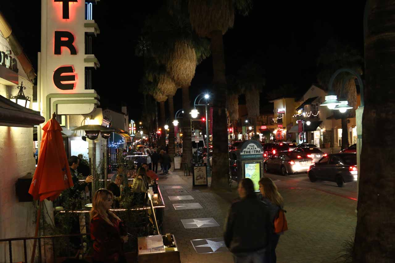Downtown Palm Springs still happening late Saturday night