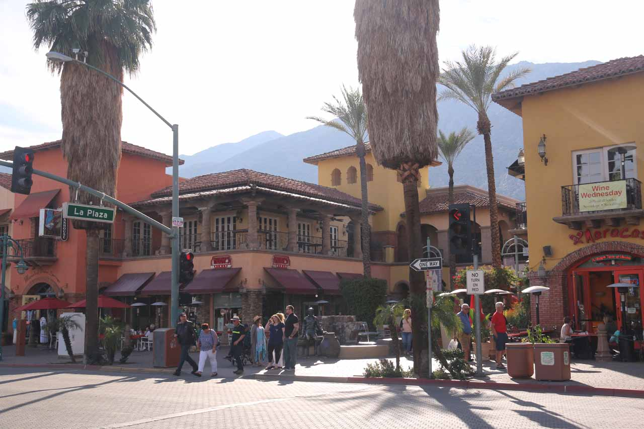 Heart Rock Falls and the community of Crestline was not far off from the more popular Palm Springs area, which featured intriguing desert oasis hikes as well as a happening downtown