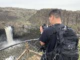 Palouse_Falls_002_iPhone_04042021 - Me taking a picture of Palouse Falls from the main overlook