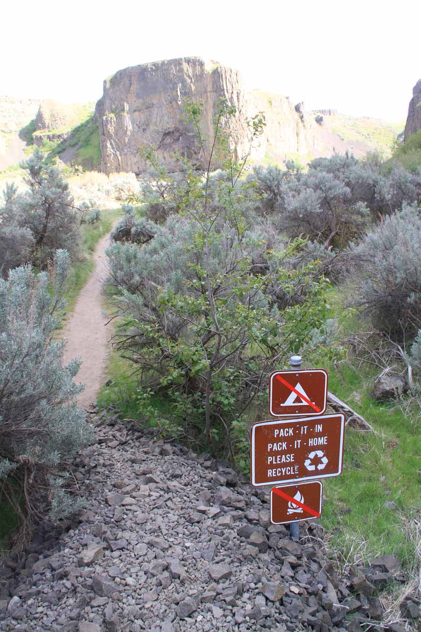 This was a reassuring sign that the trail was sanctioned