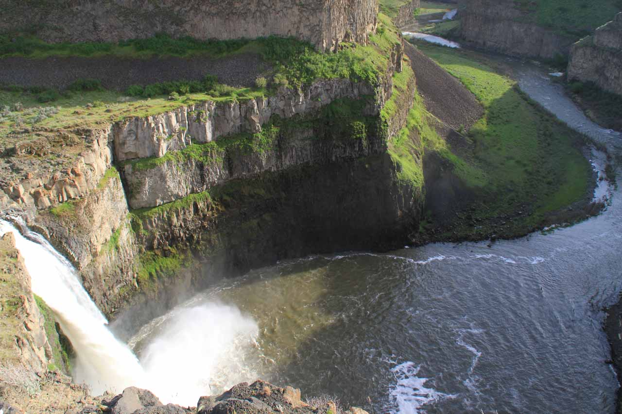 Palouse Falls and the Palouse River from another precarious overlook above the 'mohawk'