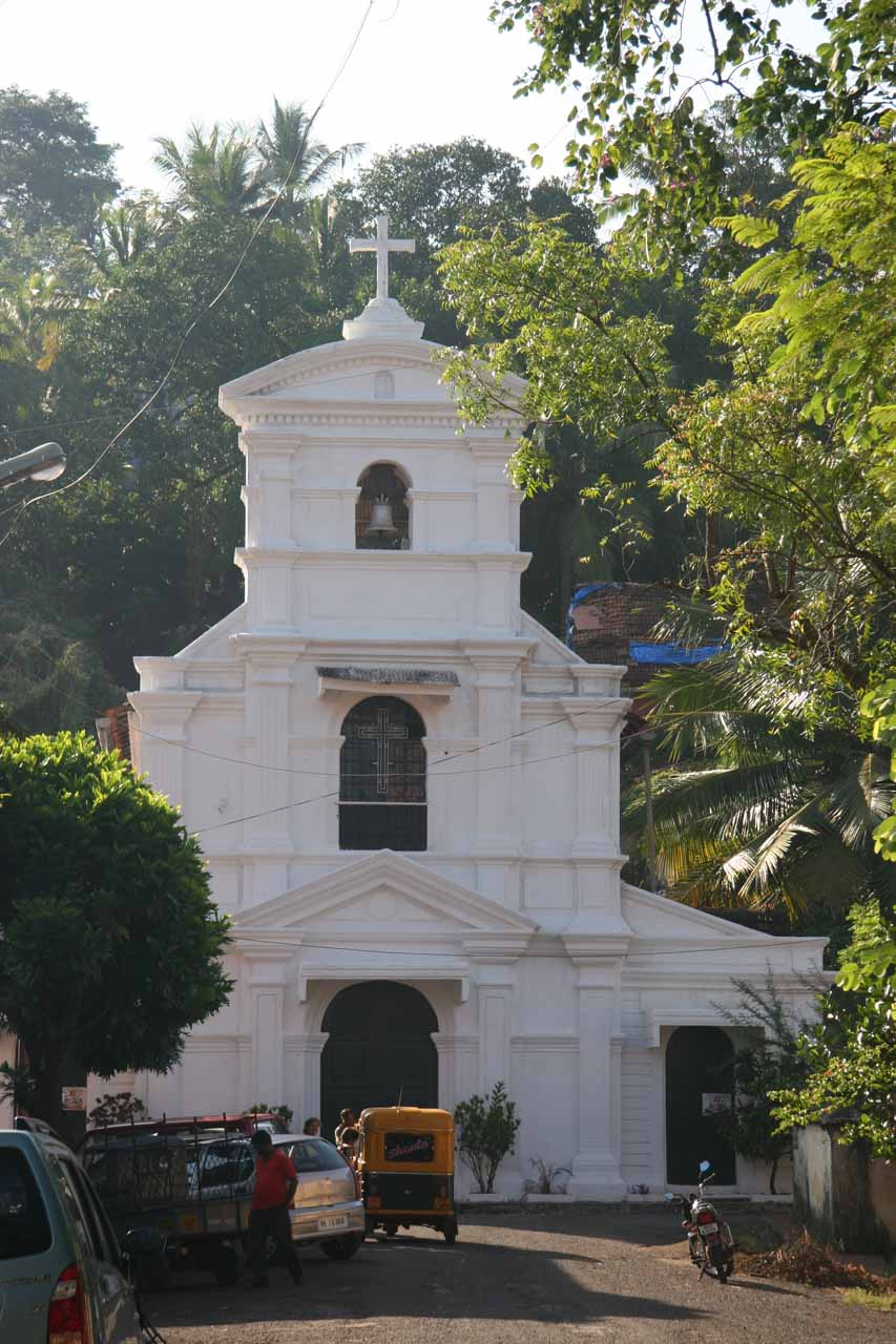 Looking towards some church as we started our Panaji Walking Tour