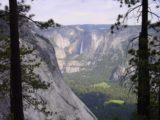 Panorama_Trail_003_06012002 - Unusual view of Yosemite Falls from the Panorama Trail