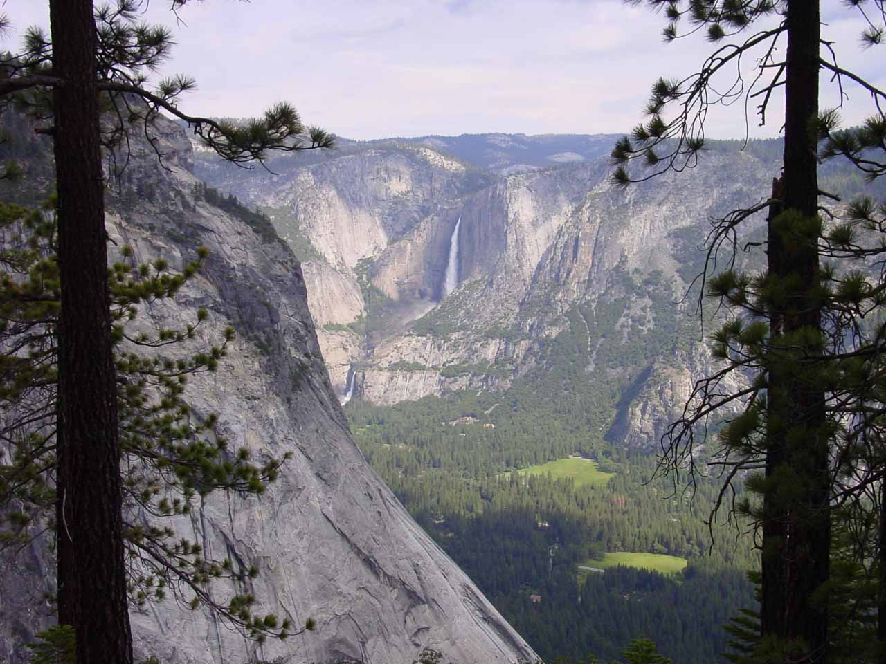 Unusual view of Yosemite Falls from the Panorama Trail