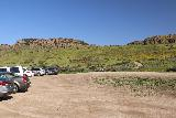 Paradise_Falls_003_03242019 - Looking back across the spillover parking lot towards the mesas in the distance before hiking down towars Wildwood Canyon on our March 2019 visit
