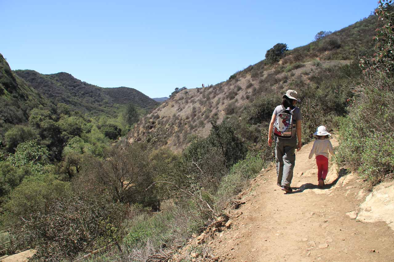 Julie and Tahia making their way back out of Wildwood Canyon