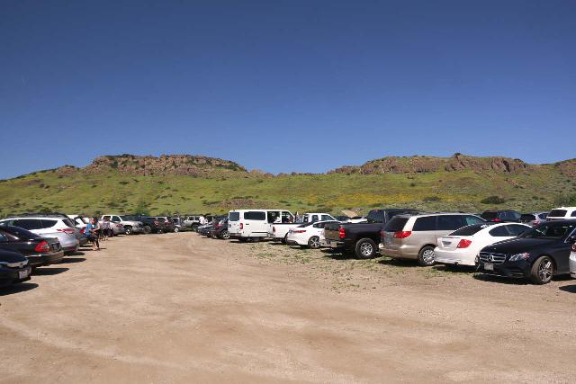 Paradise_Falls_229_03242019 - Very busy spillover parking lot about 0.6 miles beyond the main parking lot on unpaved the Public Access Road