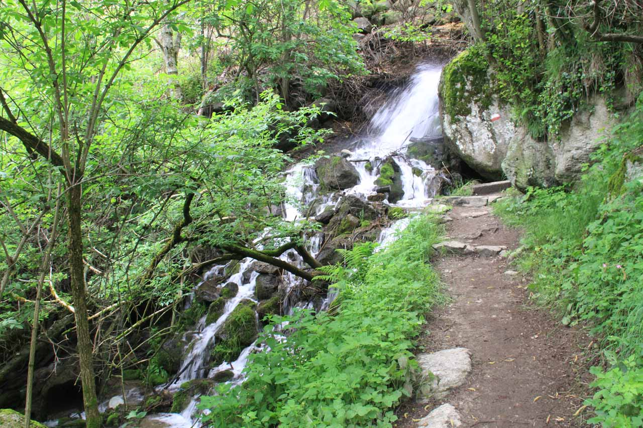 Just beneath the Gasthaus Wasserfall, this linking path also featured some minor cascades