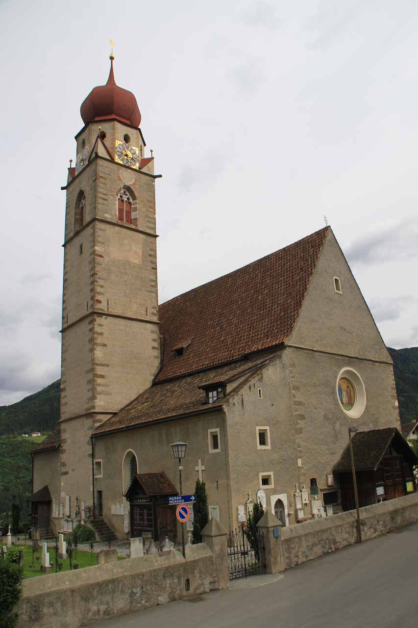 The church in Partschins or Parcines