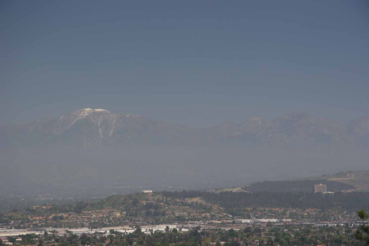View of the San Gabriels