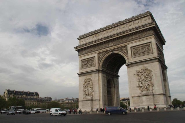 The Champs Elysees is surrounded by a huge roundabout, which is very popular all over the world, but especially in Europe