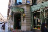 Paris_18_441_06152018 - The entrance to the flagship restaurant and store for Laduree on the Champs-Elysees in Paris