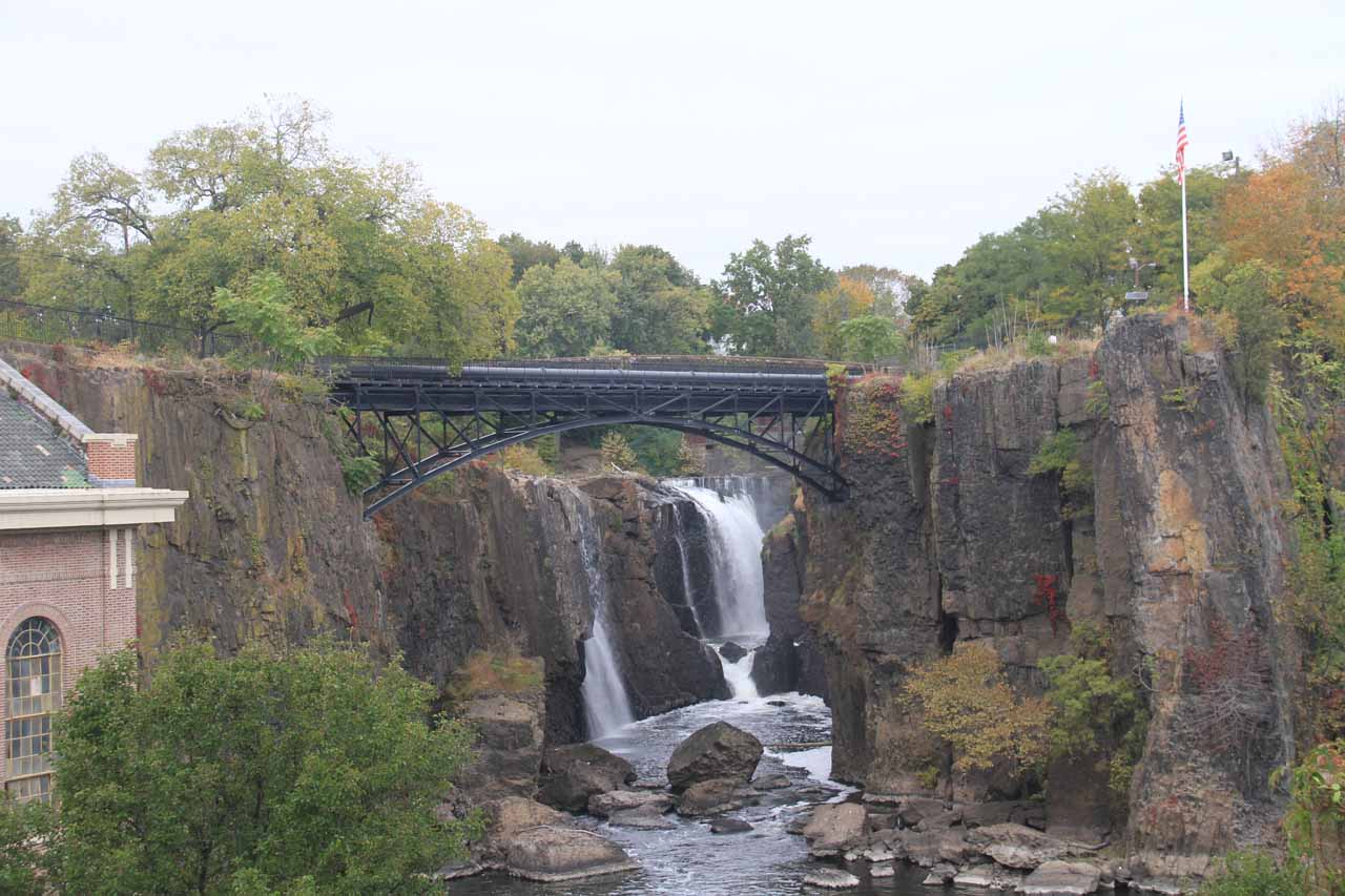 A more zoomed in look at Passaic Falls