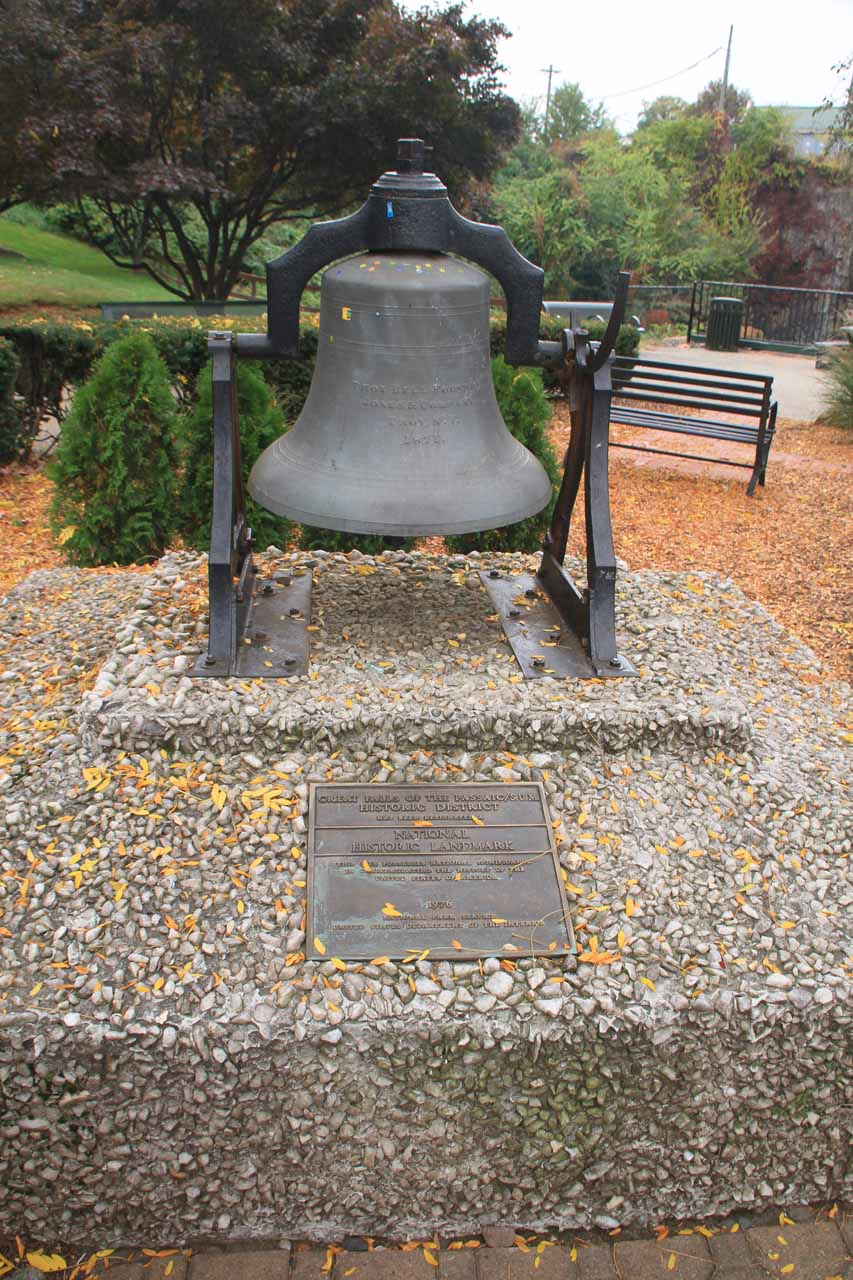 A bell at the main overlook part of the park