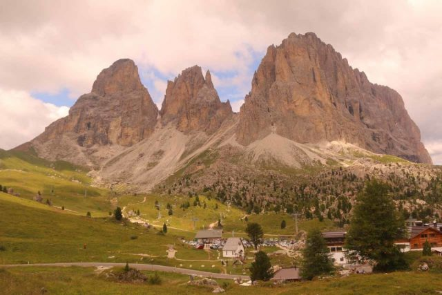 Passo_Sella_001_07172018 - The Sasso Lungo Group at Passo Sella in the heart of the Dolomites in Northern Italy