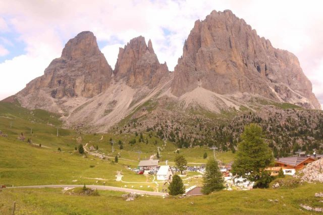 Passo_Sella_024_07172018 - This was the Sasso Lungo Group at the Passo Sella in the heart of the Dolomites, which was well south of Campo Tures. This was probably the signature formation of the Dolomites