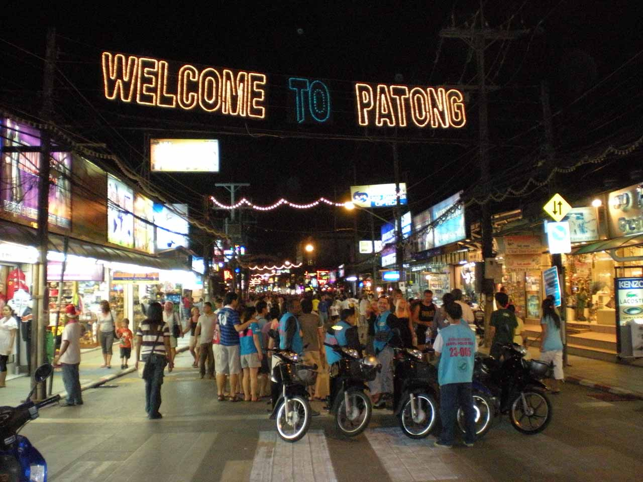 At the bustling Patong Beach Town