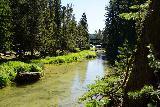 Paulina_Falls_128_06272021 - Looking upstream towards the dam and manmade bridge over Paulina Creek