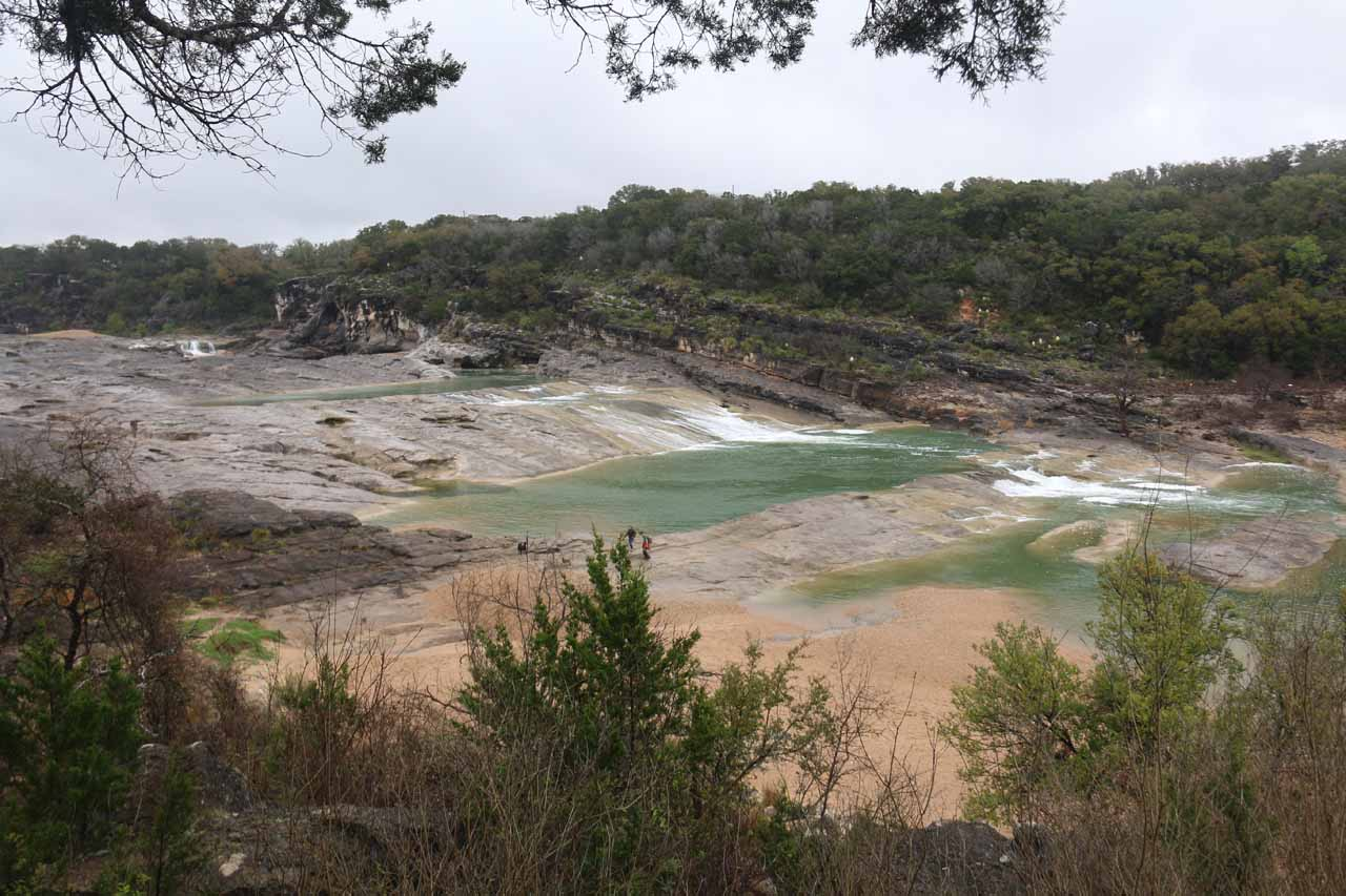 Our first look at Pedernales Falls from the main lookout