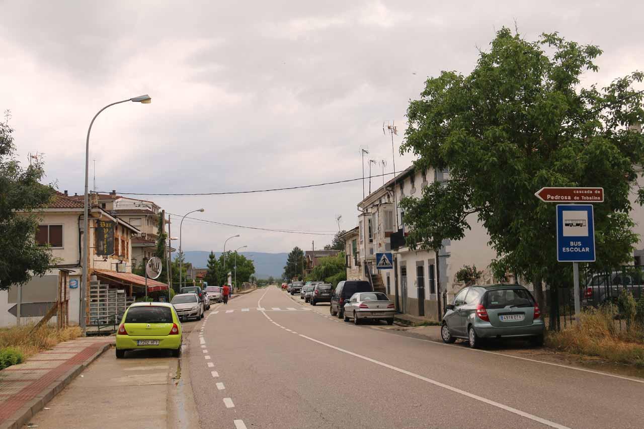 The main throughfare through the town of Pedrosa de Tobalina