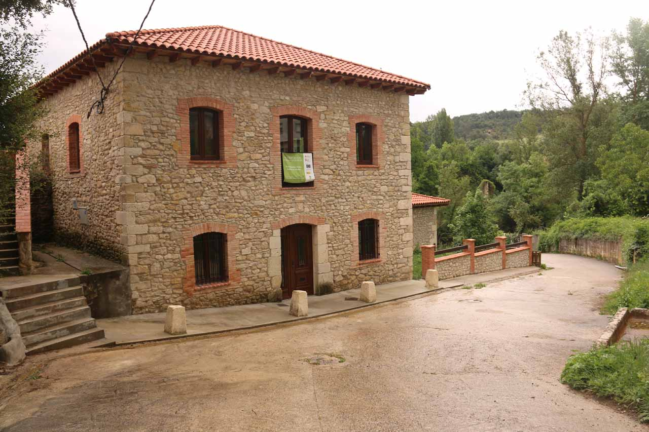 We had to walk past this building as we descended to the bottom of the Cascada de Pedrosa de Tobalina