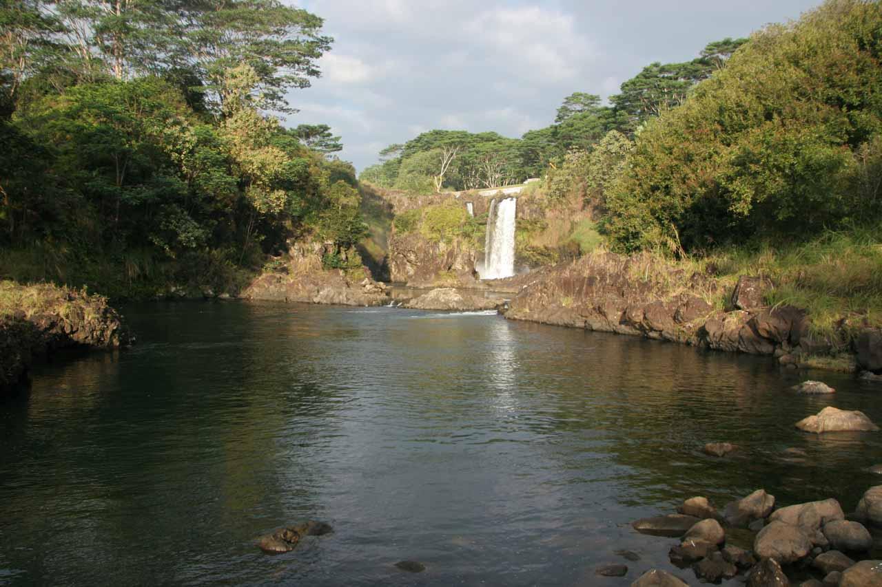 The falls still looked pretty far away