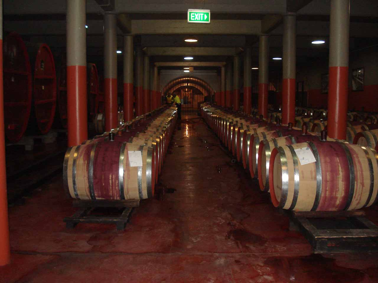 Adelaide was in reach of the Barossa Valley (known for wineries), but we didn't have to go that far for a wine tasting and tour at the Magill Estate (in Adelaide itself) for the Penfold's wine brand