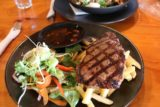 Peppers_Cradle_Mtn_Lodge_009_11292017 - This was an average steak dish from the lunch bistro venue at Pepper's Cradle Mountain Lodge