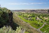 Perrine_Coulee_Falls_003_06182021 - Looking in the other direction along the Snake River Canyon from overlooks fronting the Elevation 486 Restaurant in mid-June 2021