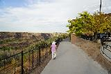 Perrine_Coulee_Falls_022_06182021 - Mom approaching the first overlook, which was behind what I suspect to be the Canyon Crest Conference Center during our mid-June 2021 visit