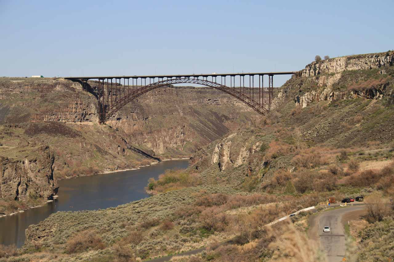 The Perrine Bridge as seen from Perrine Coulee Falls access
