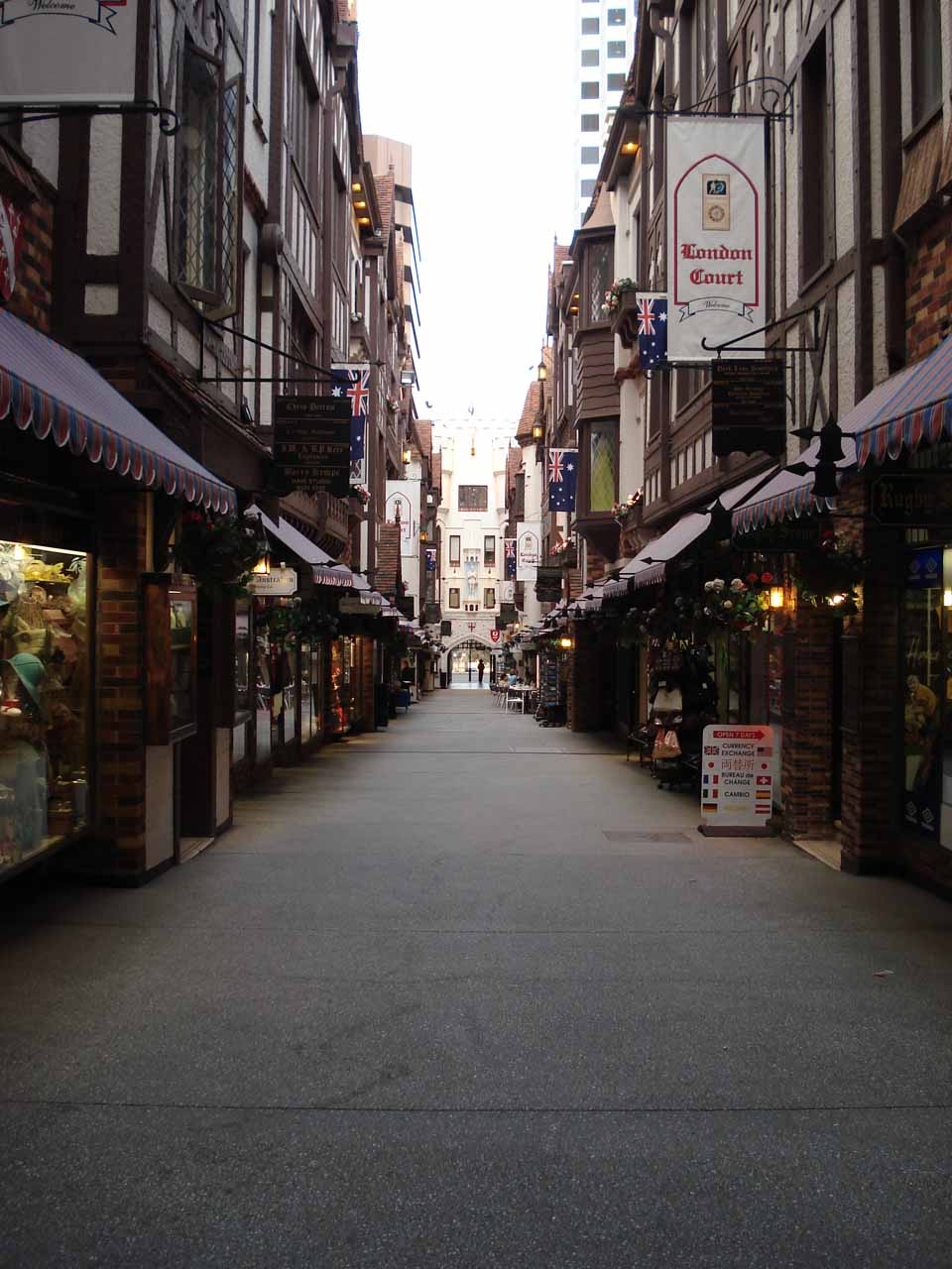 An attractive narrow arcade in the Perth CBD