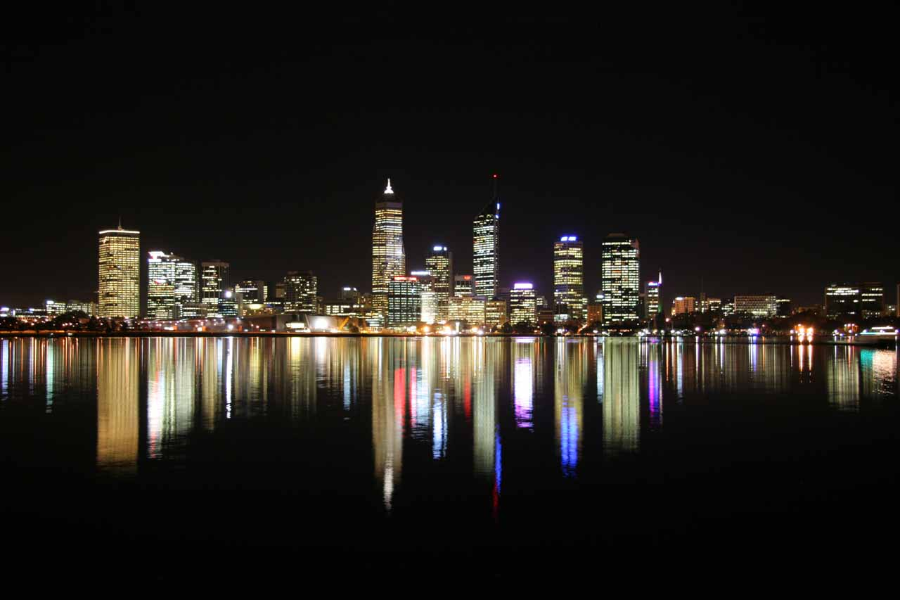 The Perth Skyline across the Swan River