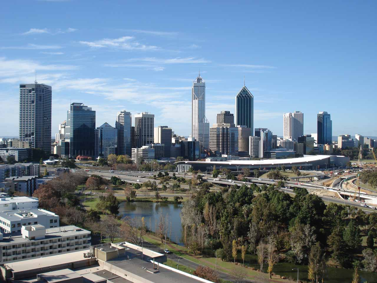 Contextual look at the Perth Skyline