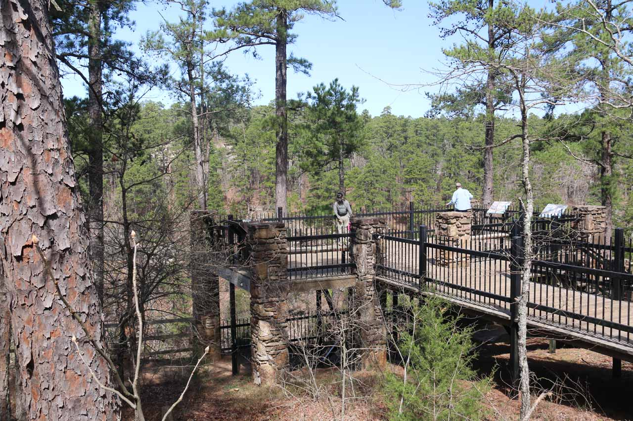 This was the wheelchair accessible overlook for Cedar Falls