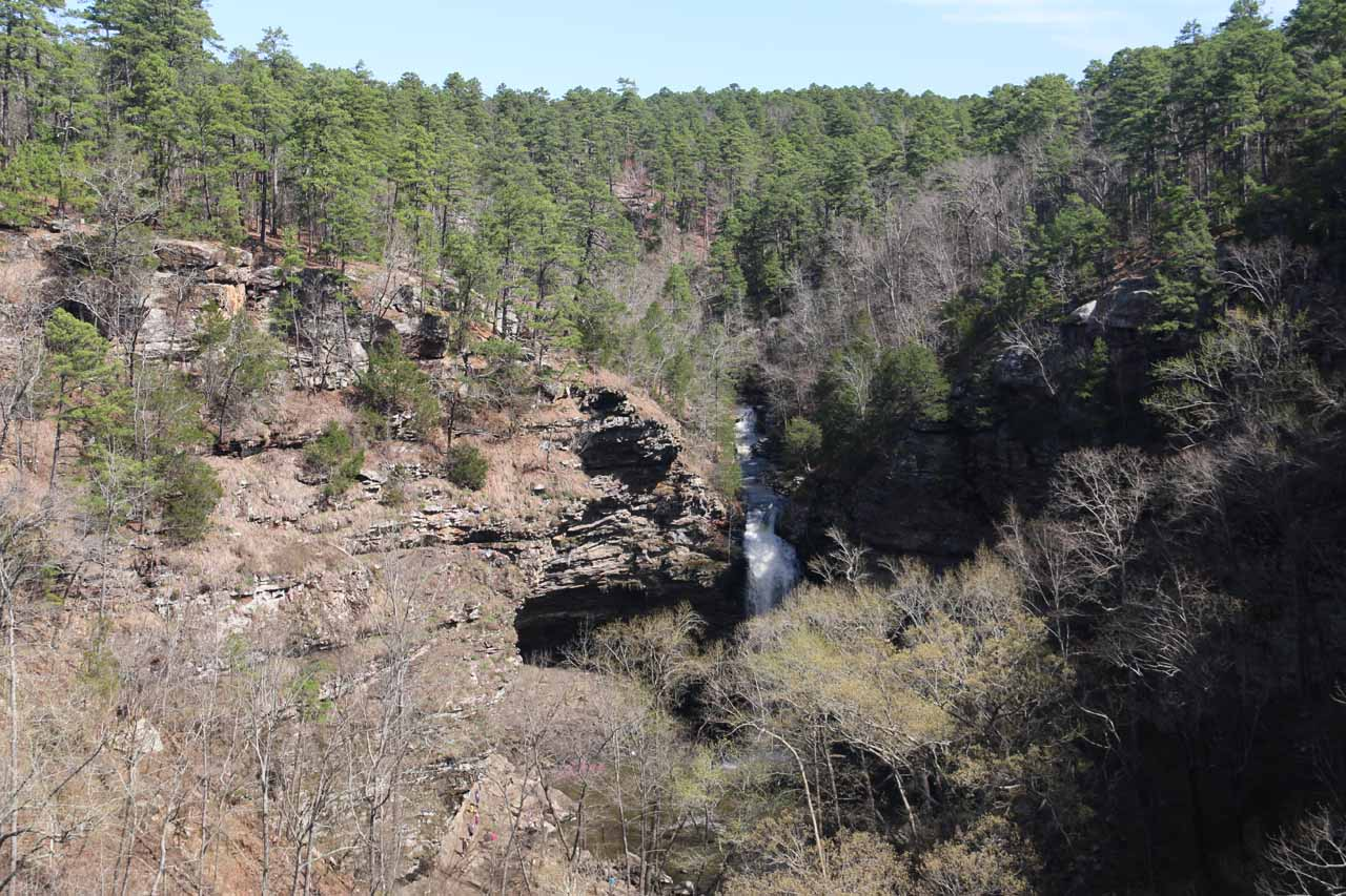 This was the view from the cliff protrusion of Cedar Falls