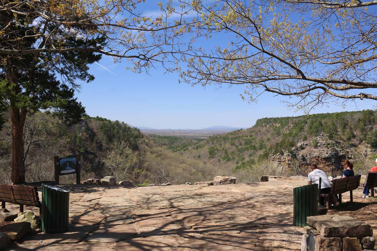 This was the panoramic view between the Cedar Falls Trailhead and the Mather Lodge