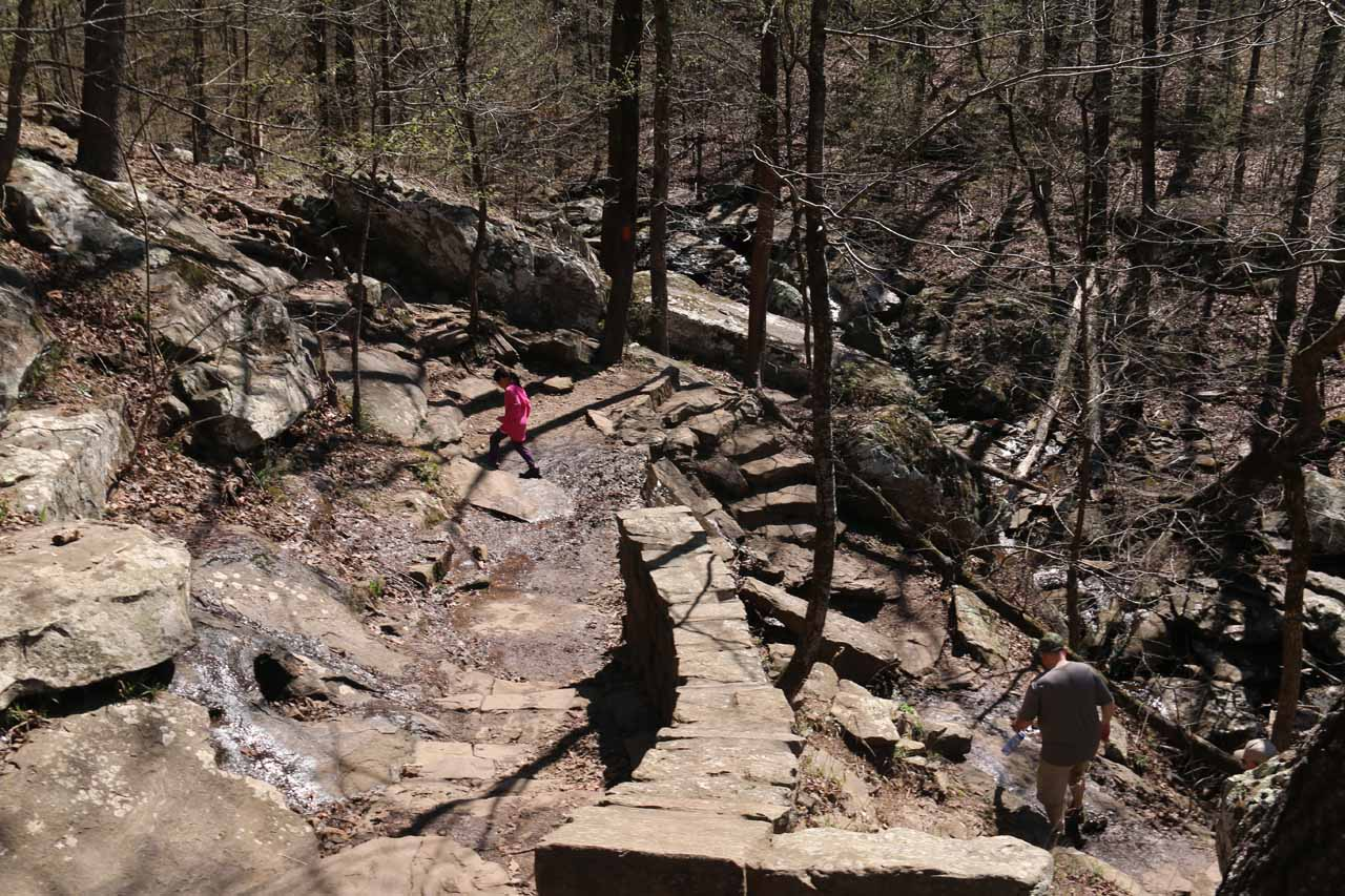 The trail started off by descending several switchbacks to get into the base of the canyon