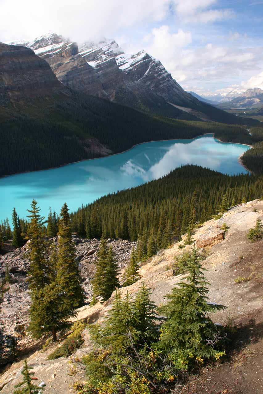 Another look at the colorful Peyto Lake