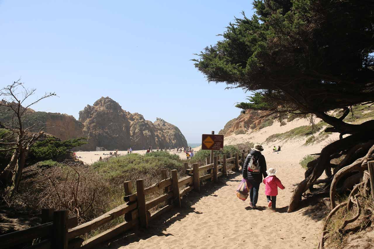 Julie and Tahia getting even closer to Pfeiffer Beach