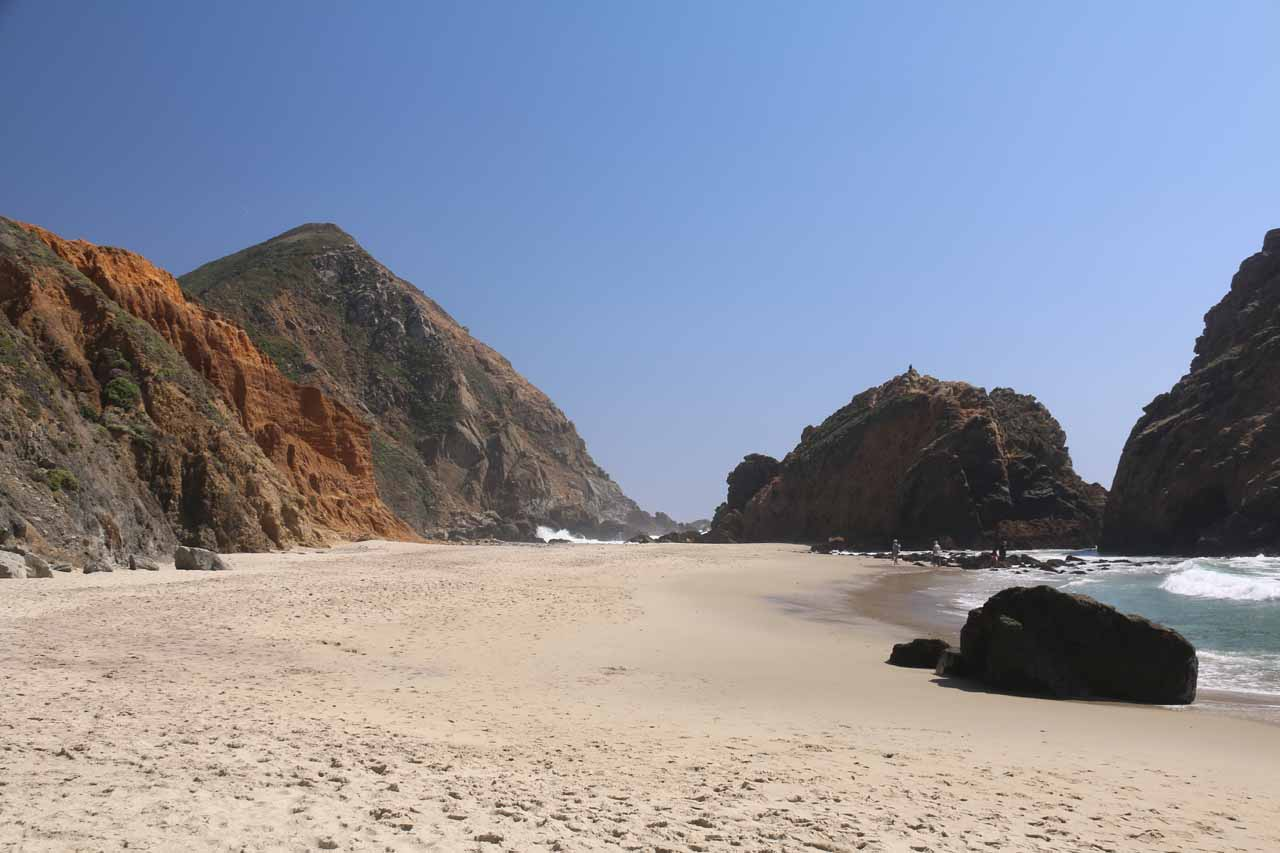 Looking back towards the calmer side of Pfeiffer Beach