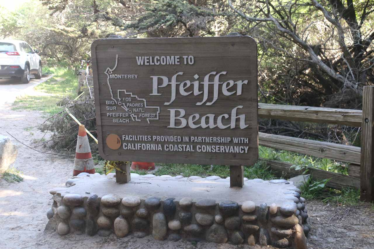 Back at the car park for Pfeiffer Beach