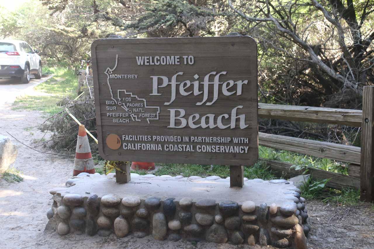 Back at the car park for Pfeiffer Beach