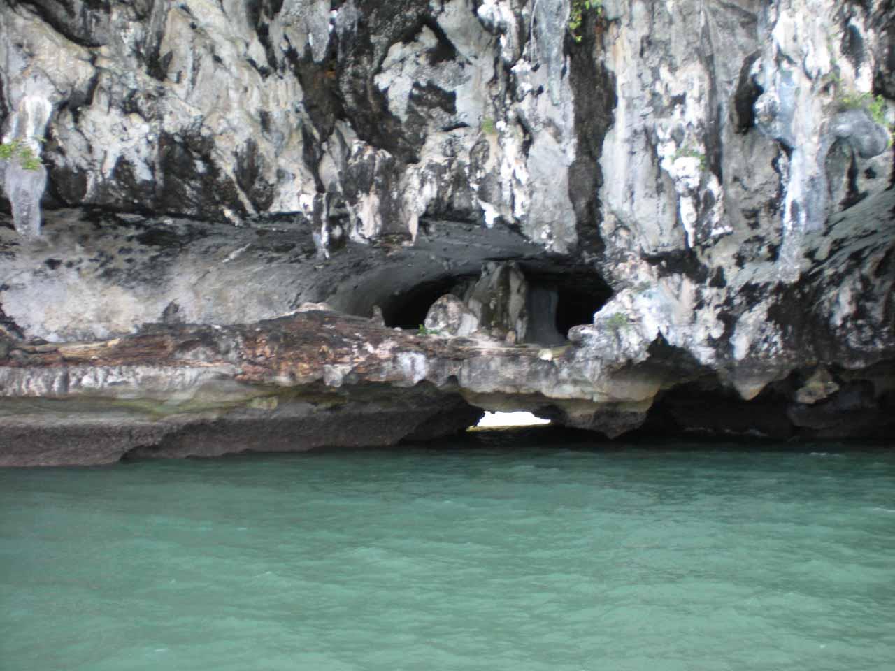 A small sea arch