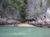Phang_Nga_Bay_Tour_019_jx_12212008 - A small sandy cove where we briefly landed our boat