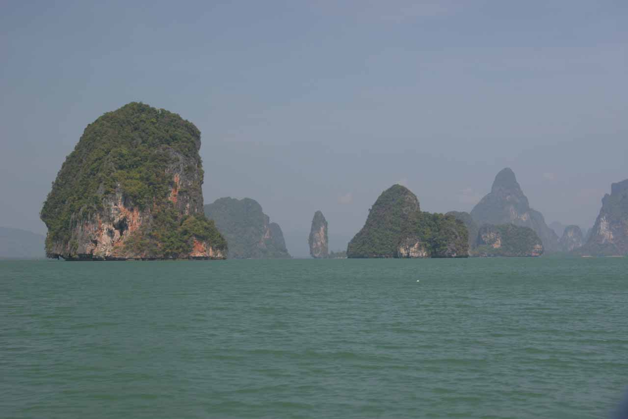 The karstic islands were now much closer than before as we got closer to James Bond Island