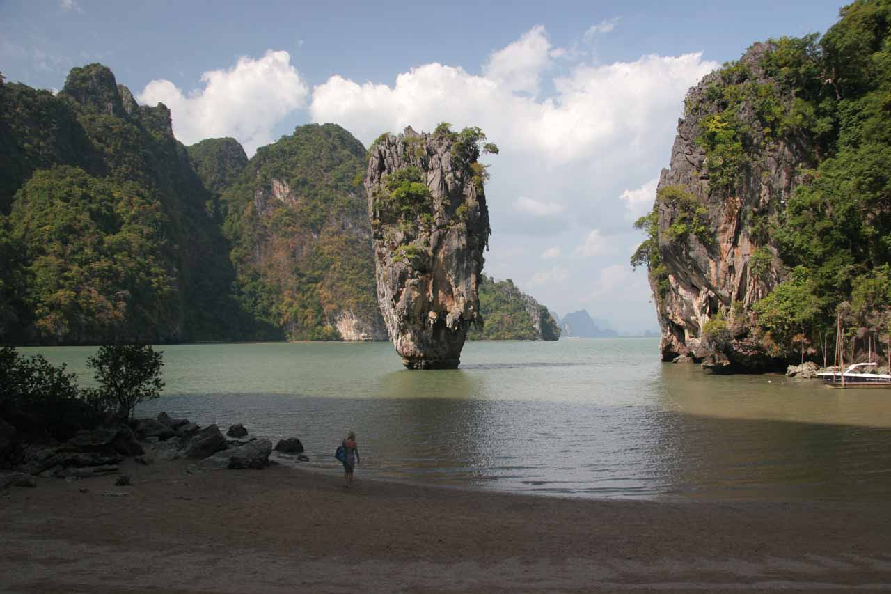 The famous thumb rock at the equally famous James Bond Island